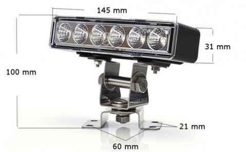 LED worklight for hardtop 1 pc